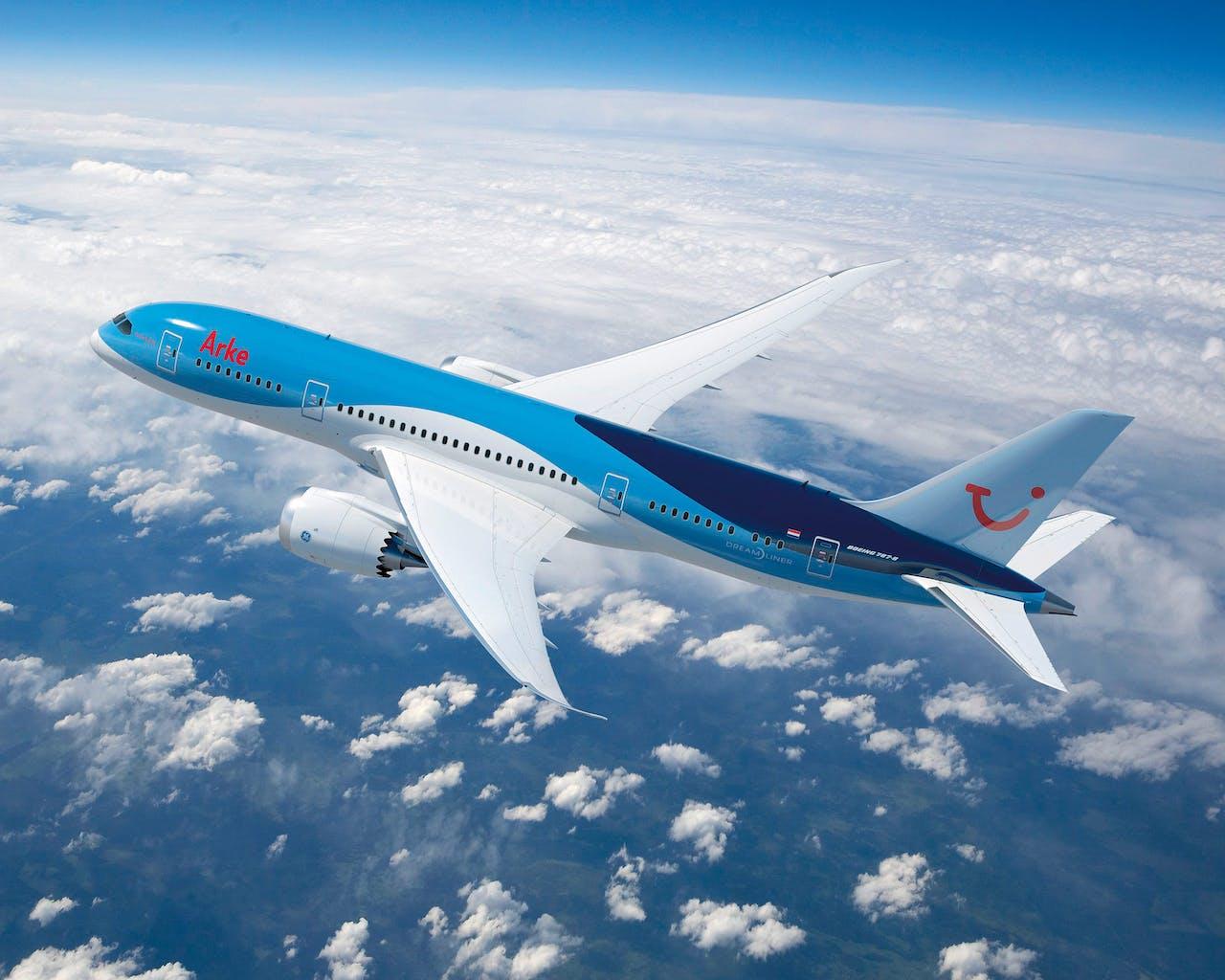 Een Boeing 787 met wifi-netwerk.