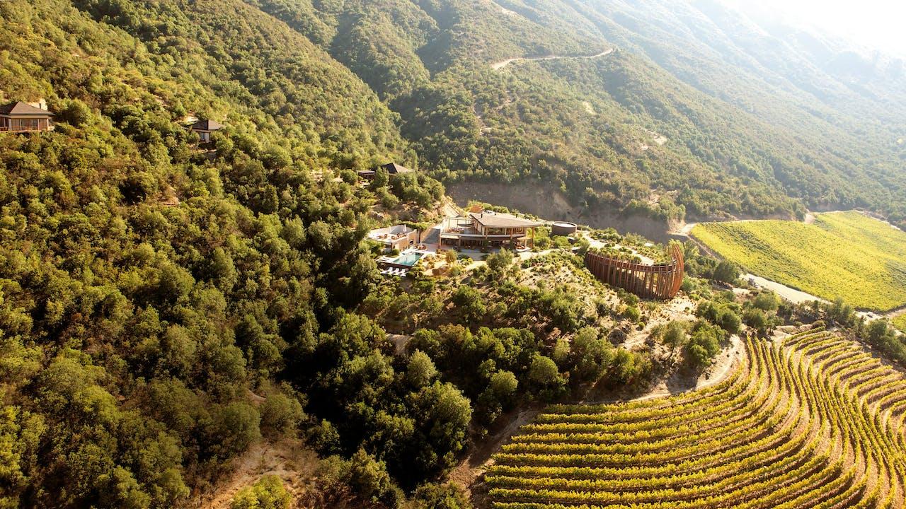 De vruchtbare Colchagua-vallei.