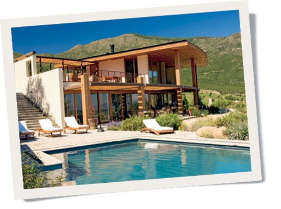 Een van de vier exclusieve, vrijstaande villa's.