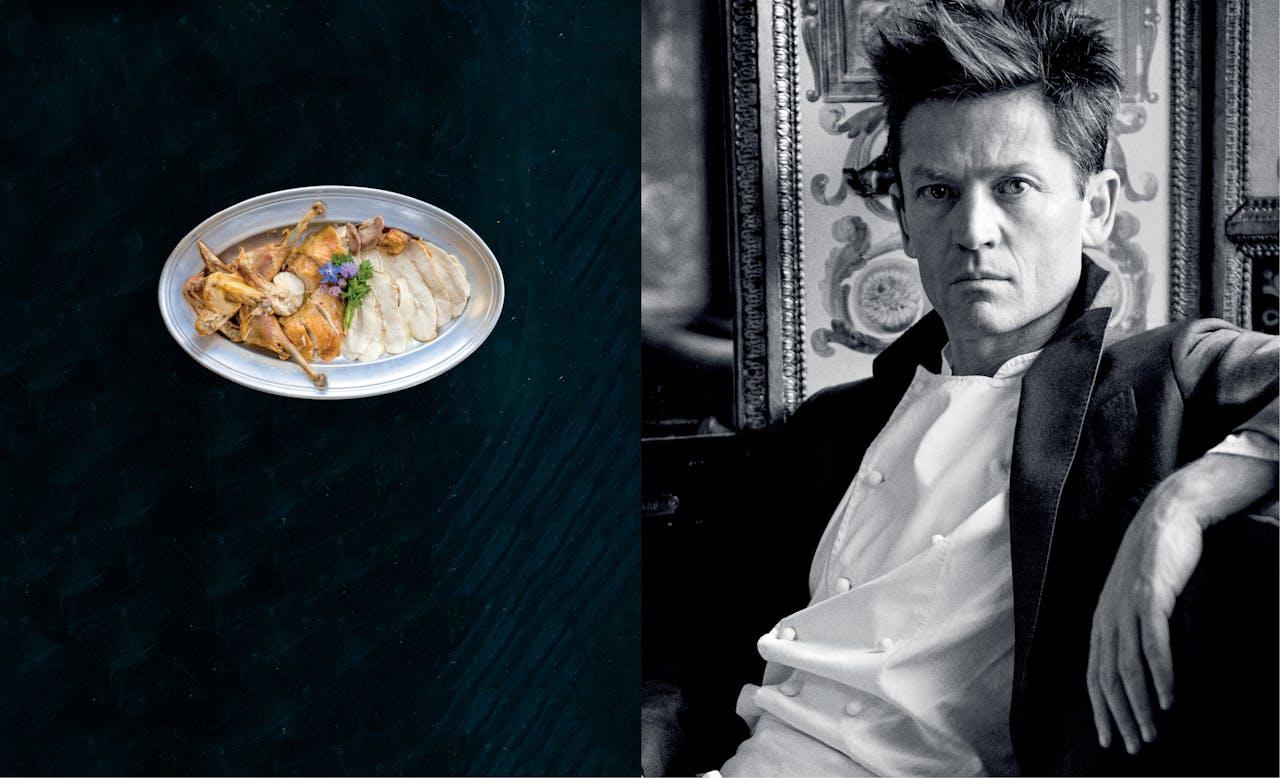 Goede genen en goede smaak: chef en voormalig model Daniel de la Falaise heeft de wind mee.