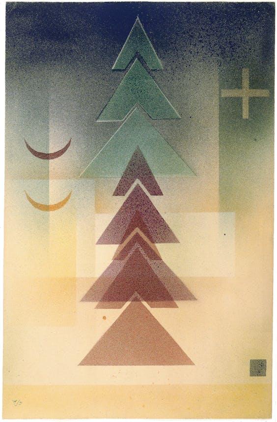 'Ins Dunkel' (1928) van Kandinsky.