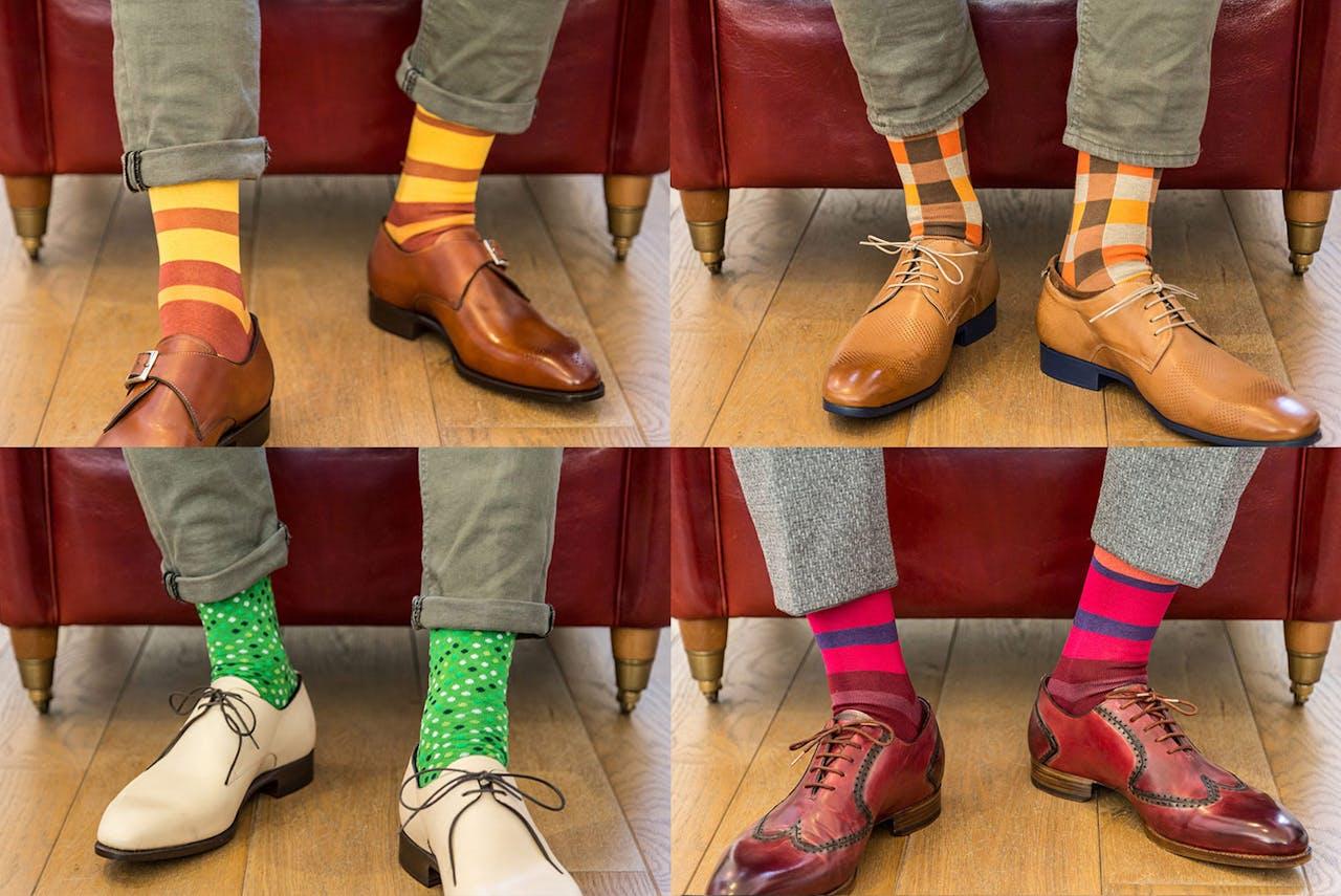 Subtiel statement tussen broek en schoenen.