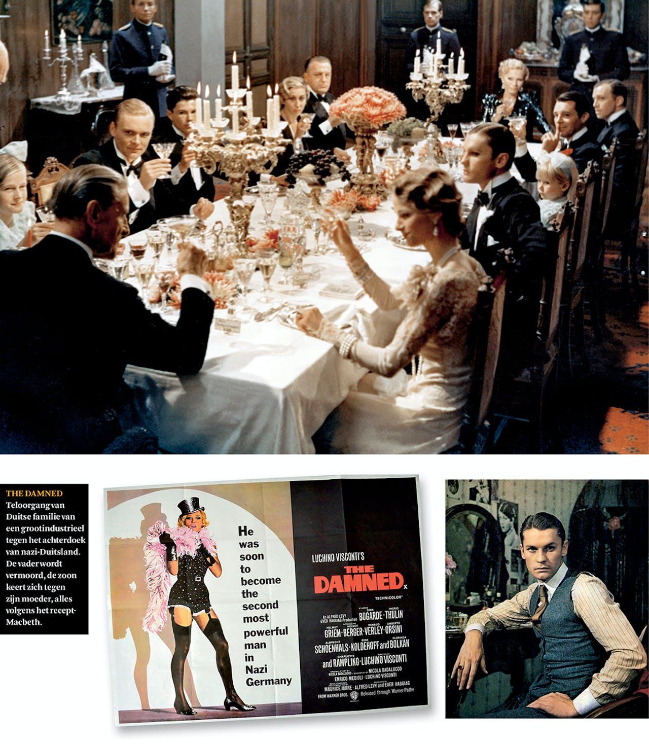 Regisseur Luchino Visconti leende het familiediner van schrijver Thomas Mann voor het begin van zijn film 'The Damned' (1969).