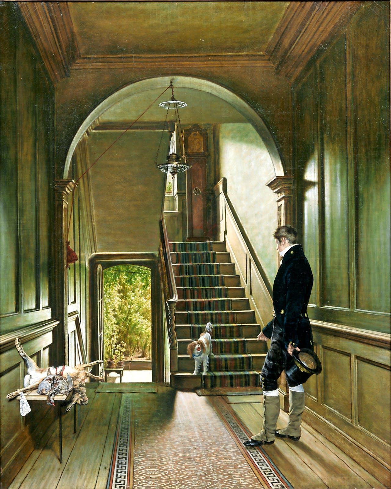 Pieter Christoffel Wonder: 'Het trappenhuis van de Londense woning van de schilder' (1828).