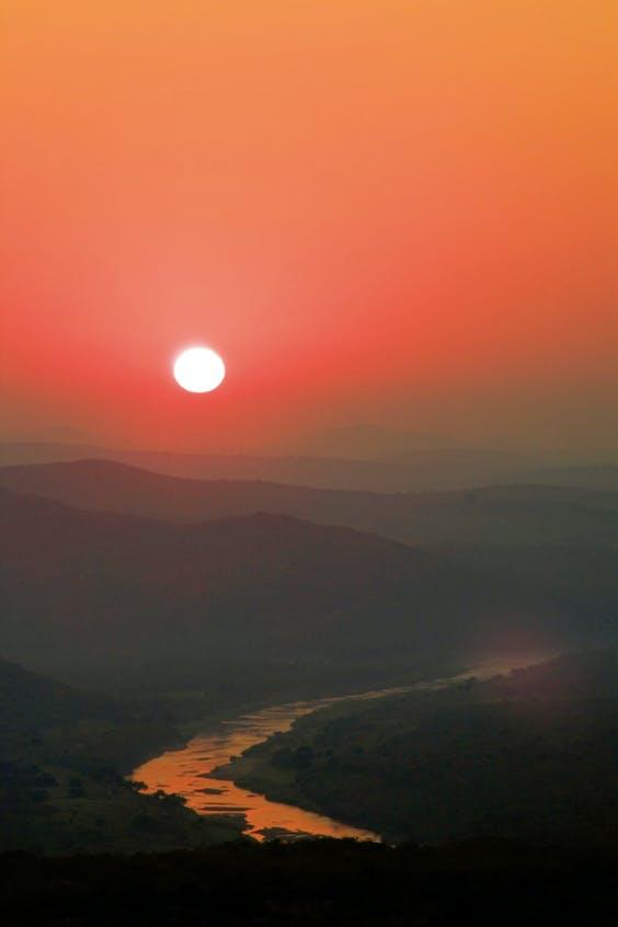 De Umfolozi-rivier.