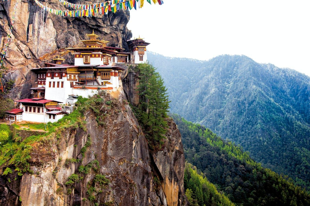 Hotel Taj Tashi in Bhutans hoofdstad Thimphu.