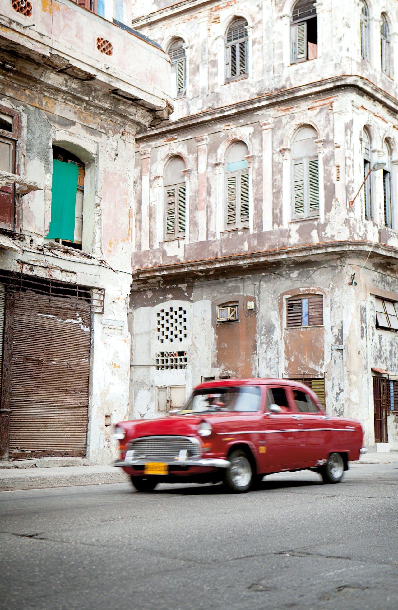 Straatbeeld in Havana.