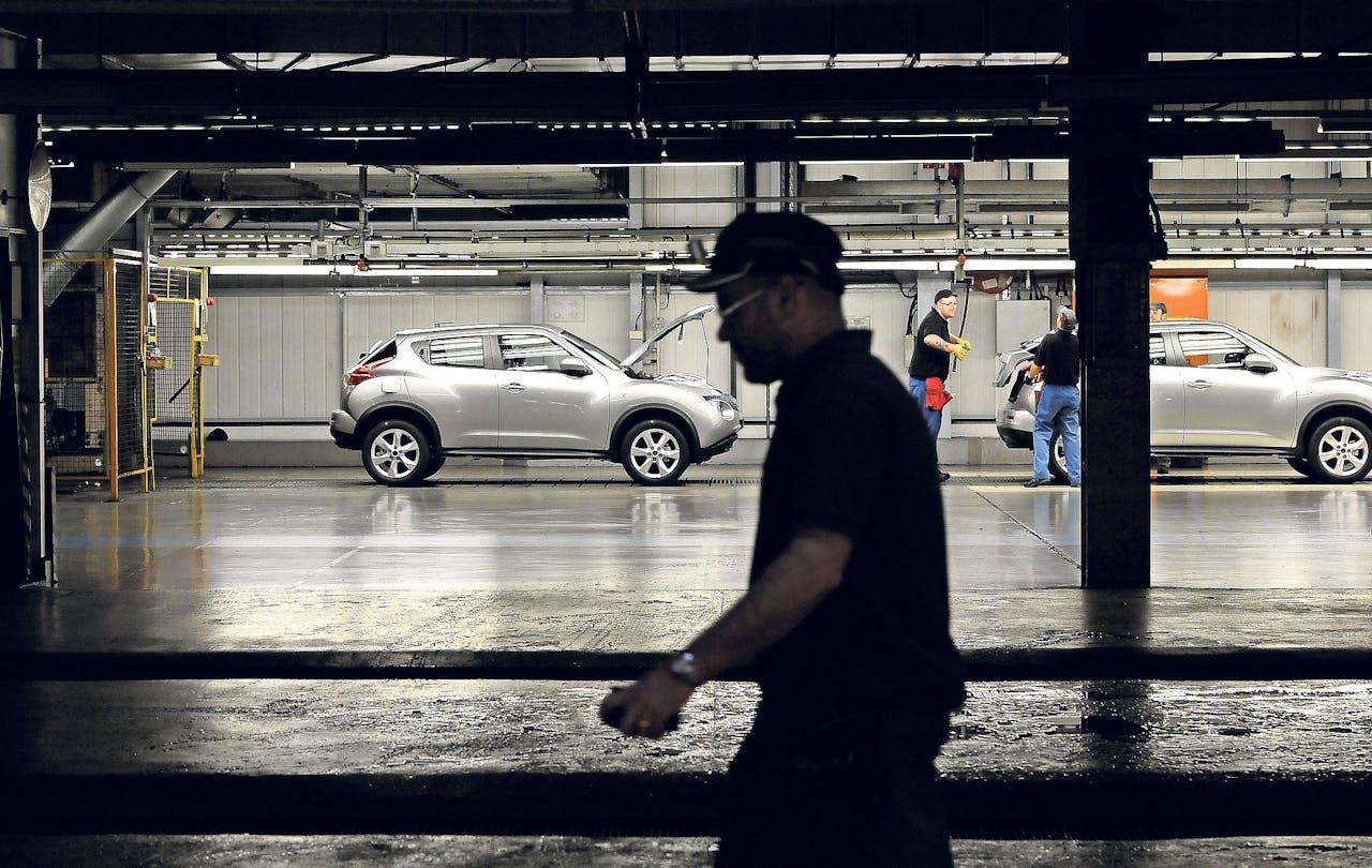 De Nissan-produktielijn in Sunderland. (Foto: Reuters)