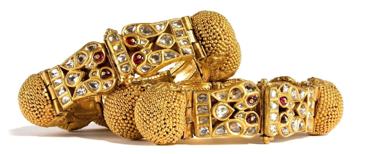 Armbanden van 22 karaats goud, Rajasthan, vroeg-20ste-eeuws.