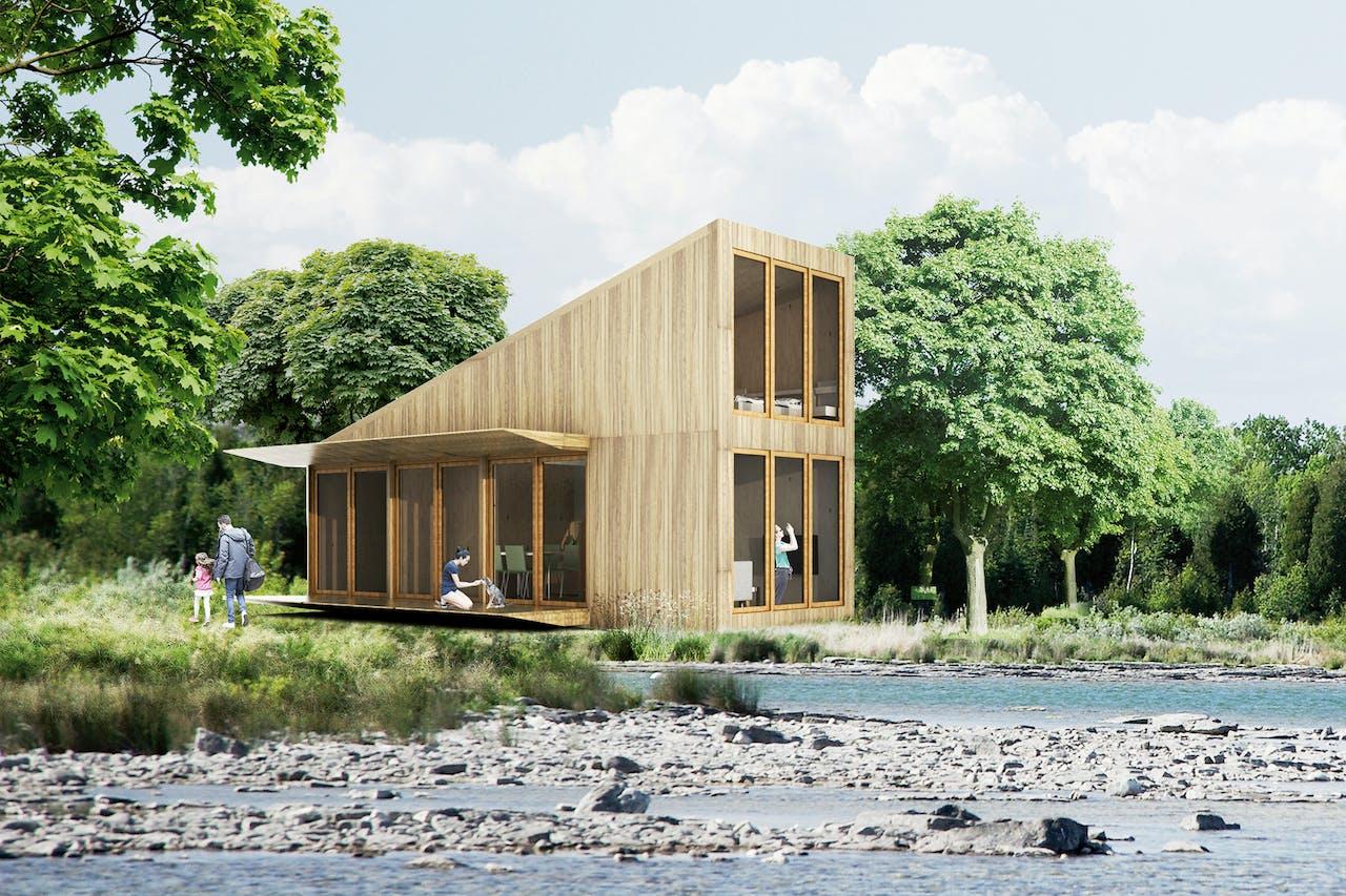 Op de nieuwste versie van de Sustainer Home kan zelfs een extra etage worden geplaatst.
