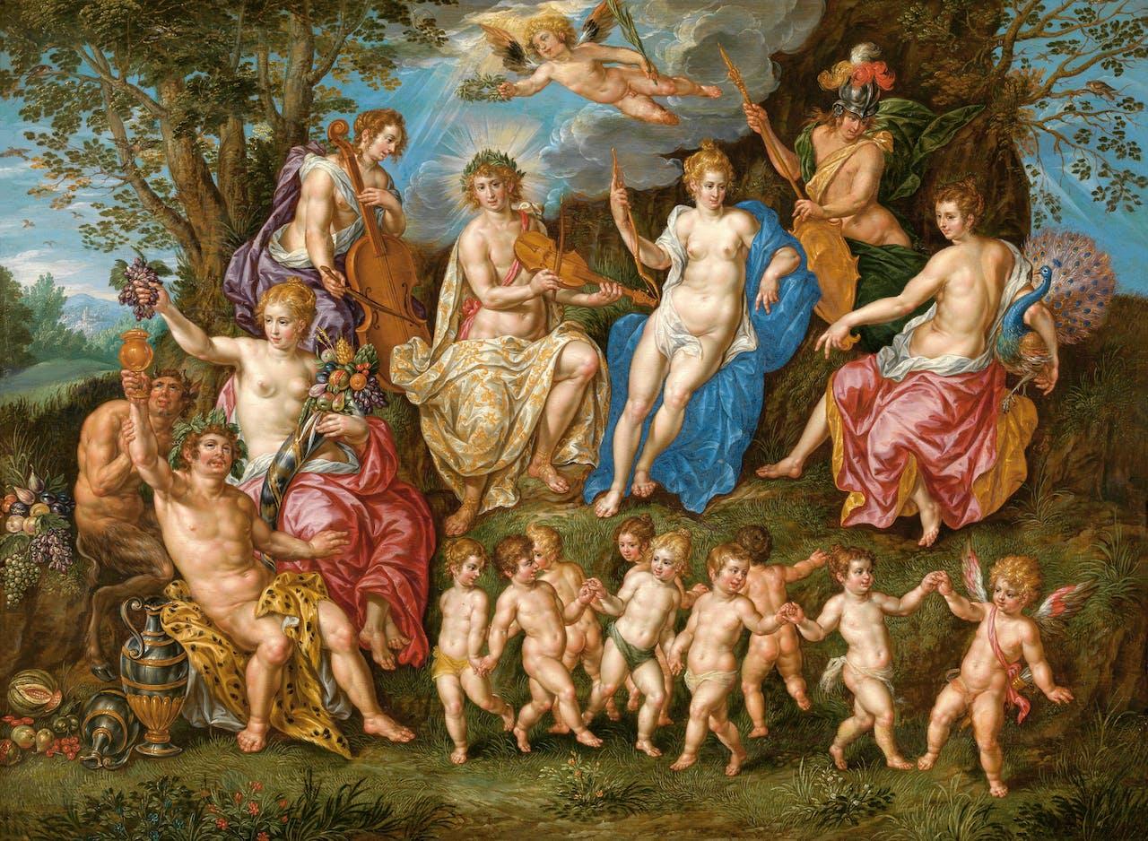 Parnassus, allegorie van de aartshertogelijke deugden.
