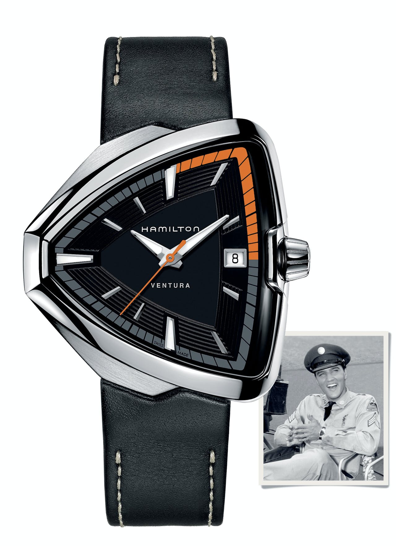 Elvis met Ventura-horloge.