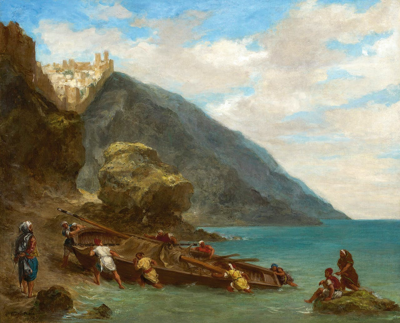 Eugène Delacroix Tanger vanaf de kust, 1858.