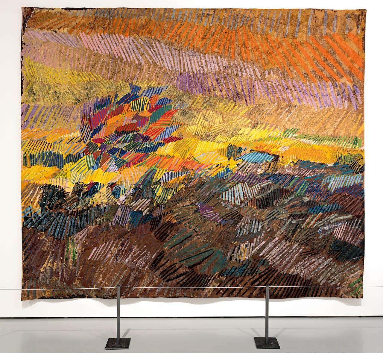 'Zonnige weide bespeeld door de wind', Sheila Hicks, 2014.