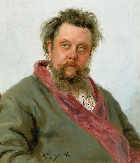 Modest Moes-sorgski, Ilja Repin, 1881.