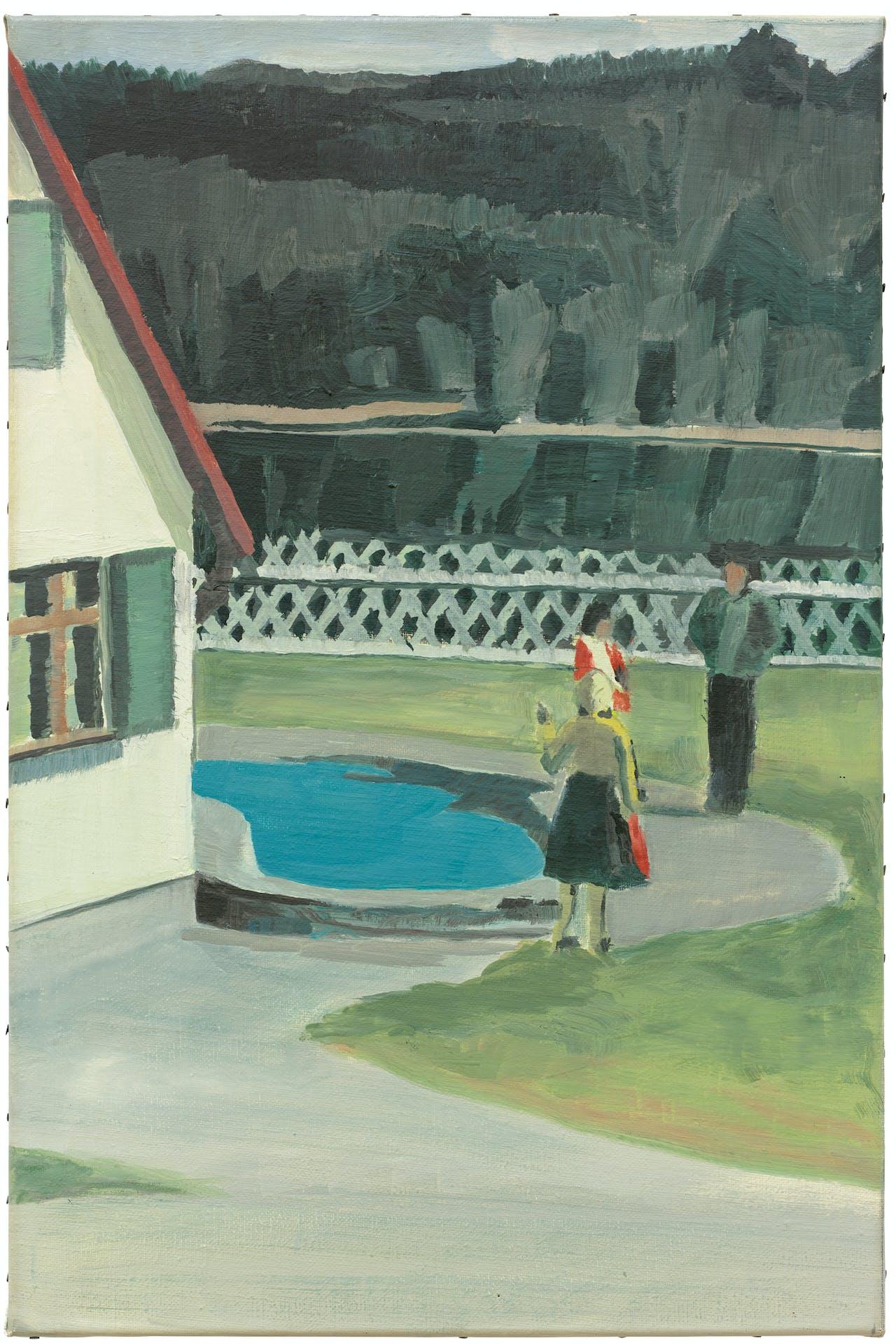 'Suspended' (1989) verwijst naar het werk van Edward Hopper