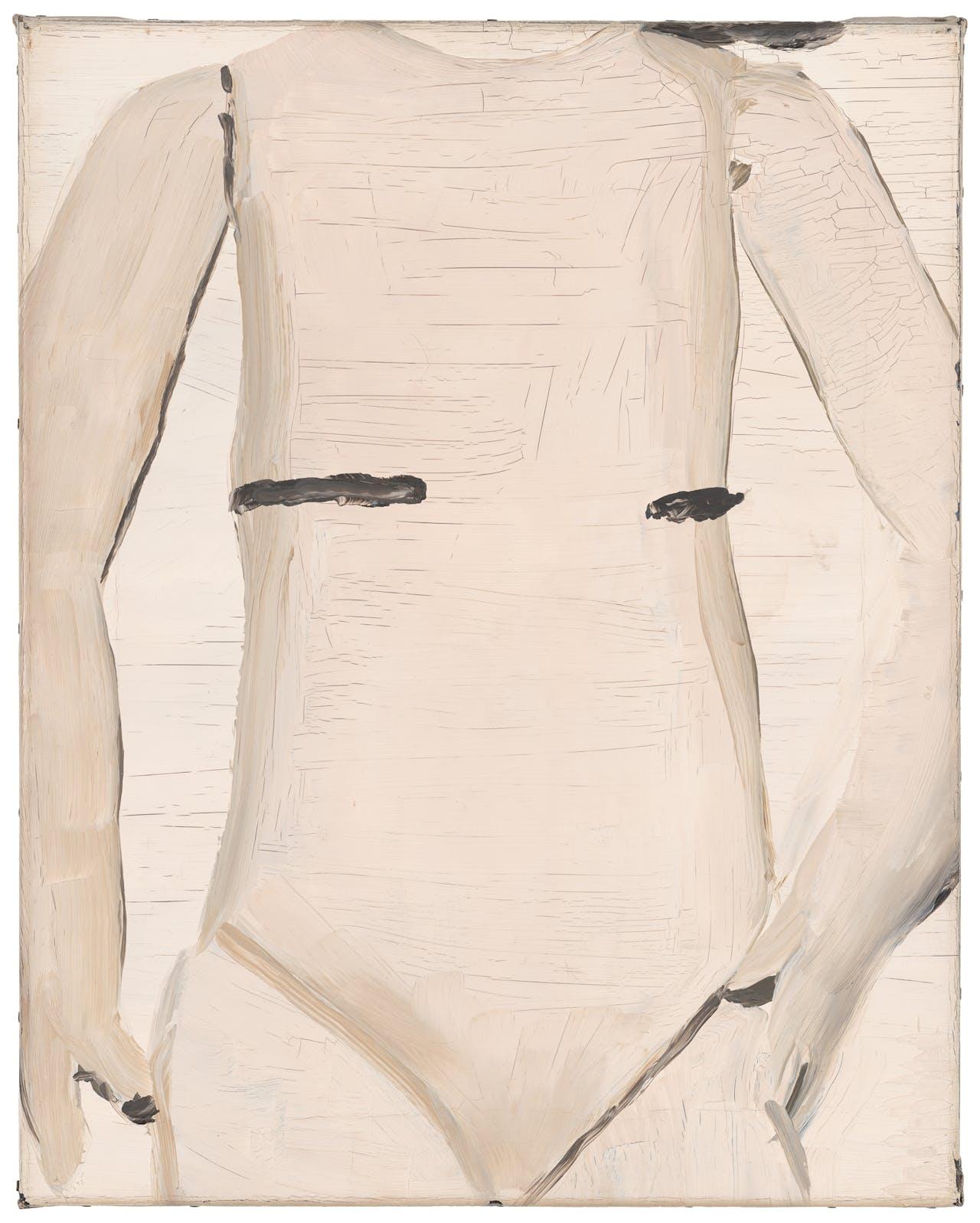 'Body', uit 1990, een 'pop' zonder hoofd en met 'wonden'.