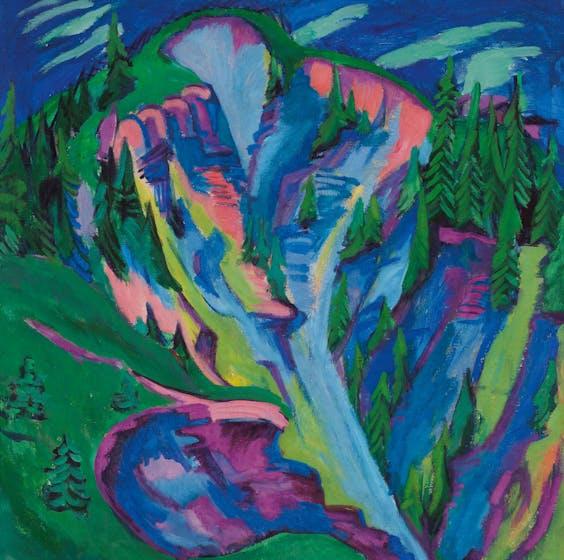 'De kloof', Ernst Ludwig Kirchner, 1920