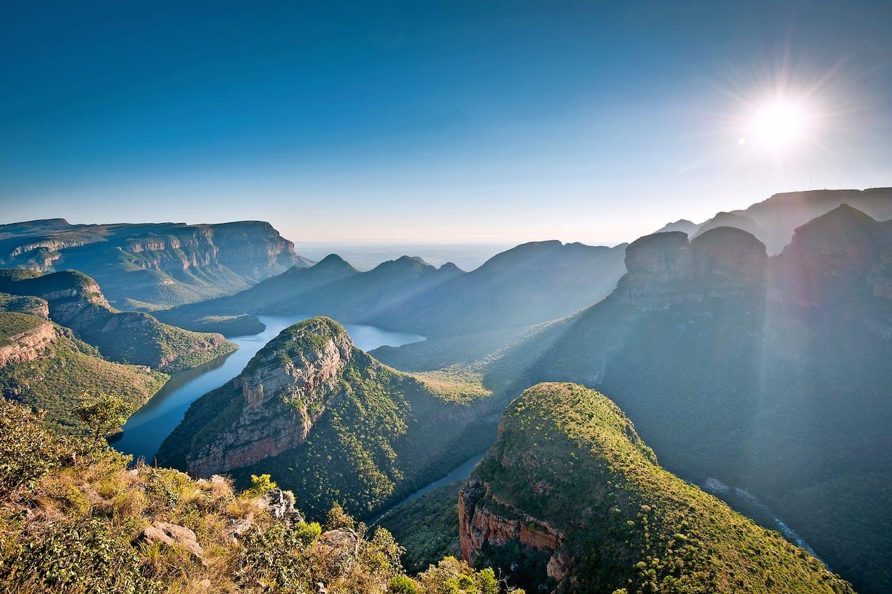 Het uitzicht over de Blyde River Canyon wordt ook wel God's Window genoemd.