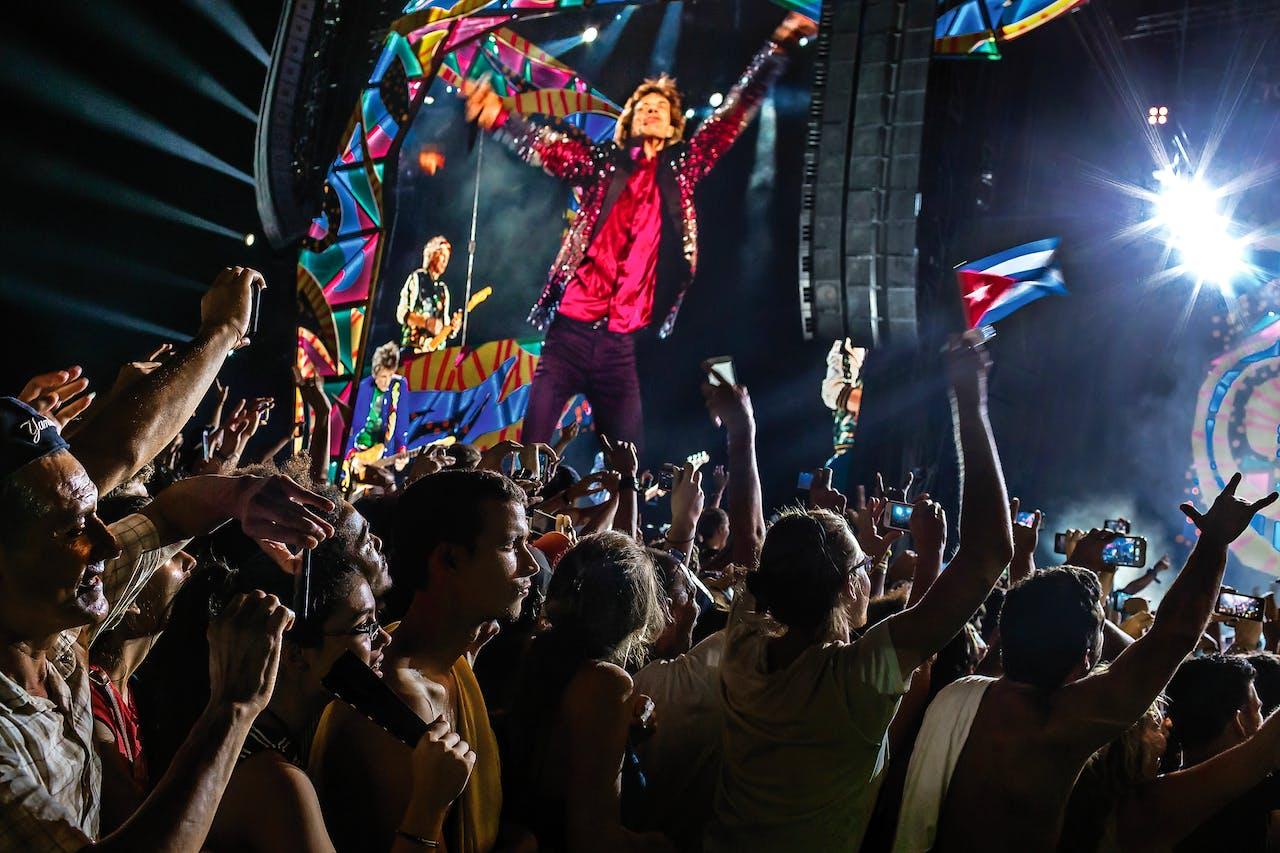 De Stones gaven in maart een gratis concert in Havana, in de openlucht. (Foto: Mauricio Lima)