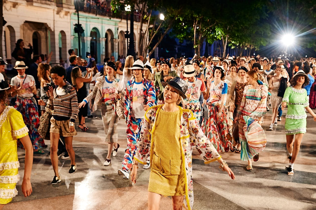 In mei vloog Chanel relaties over naar Cuba, waar het merk de cruisecollectie toonde. (Foto: Olivier Saillant)
