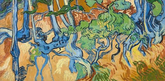 Detail uit 'Boomwortels', Van Goghs laatste schilderij.
