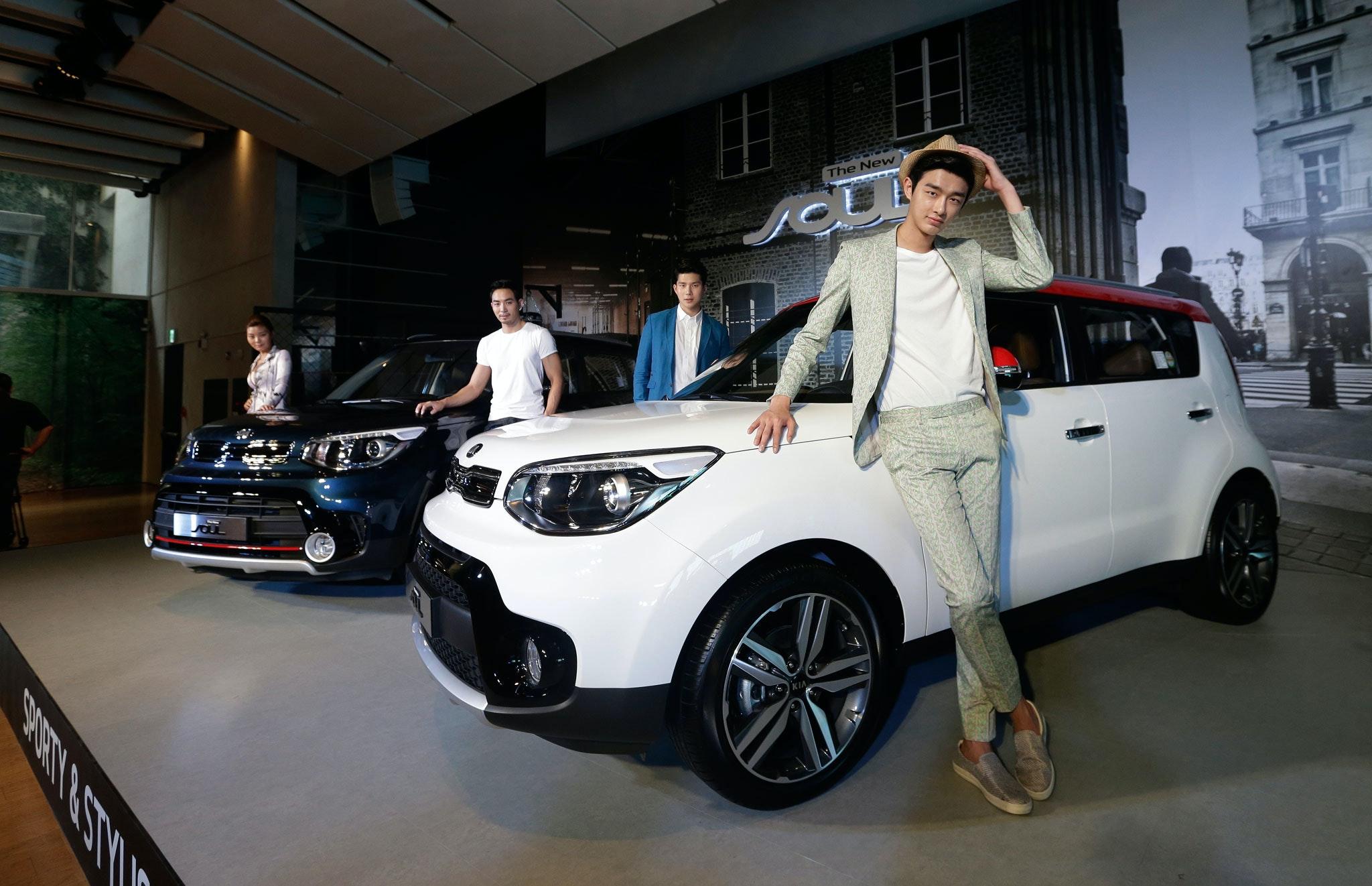 Foto Kia Presenteert Nieuw Model Elektrische Auto
