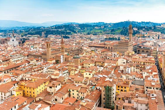 Via Florence uiteindelijk naar Sardinië.