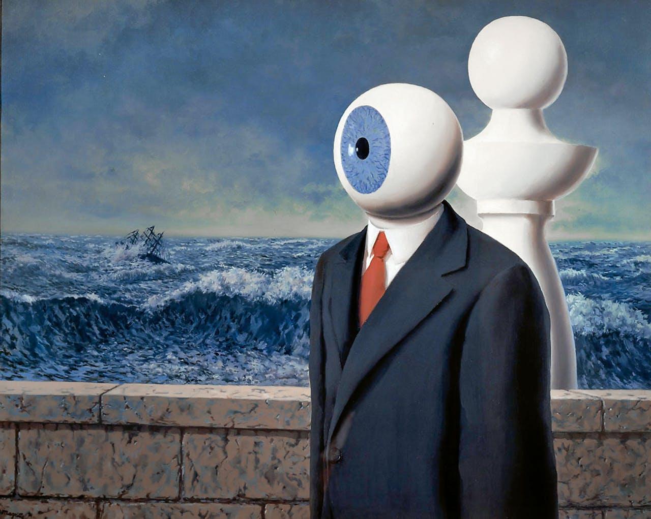 'La traversée difficile' (de moeilijke kruising), René Magritte, versie uit 1963. Het schilderij zit vol ambiguïteiten, typisch voor zijn werk (Foto: Erich Lessing Culture and Fine Arts / Hollandse Hoogte).