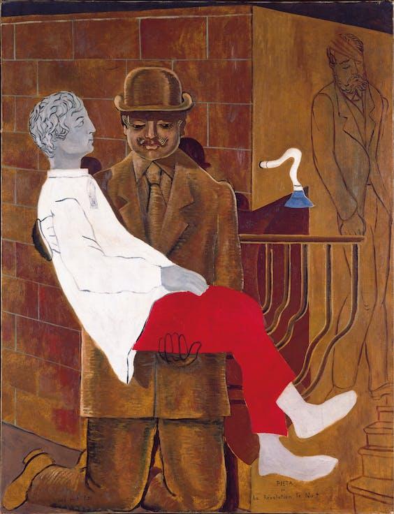 Max Ernst: 'Pietà of Nachtrevolutie', 1923.