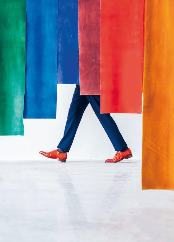 Kleur speelt een hoofdrol in de fotoserie.