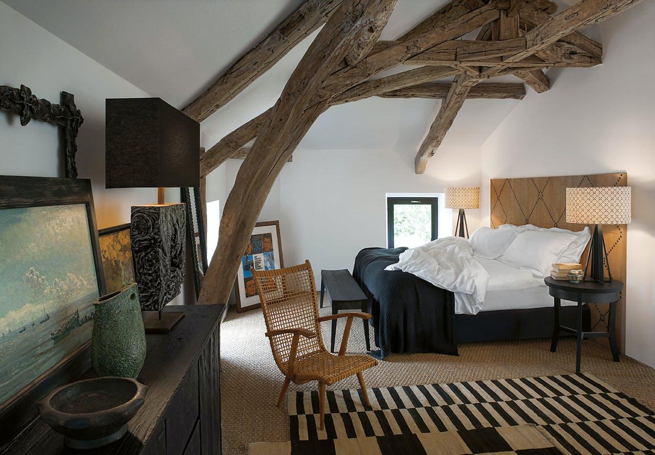 De eclectische stijl van interieurontwerper Kate Hume komt volop tot zijn recht in dit vakantiehuis in de Midi-Pyrénées