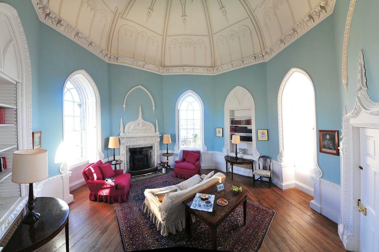 Het interieur van Culloden Tower is geweldig gerestaureerd. (Foto: Landmark Trust)