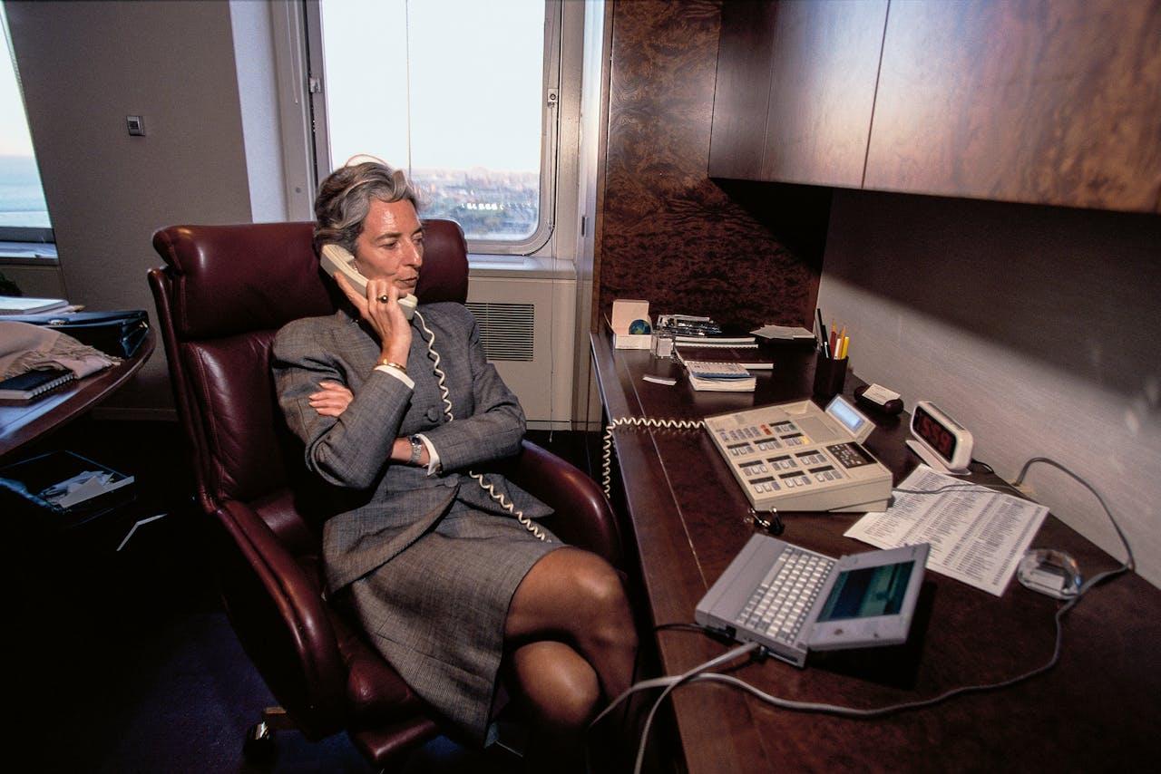 Christine Lagarde was de eerste vrouwelijke bestuursvoorzitter bij Baker & McKenzie. (Foto: Getty Images)