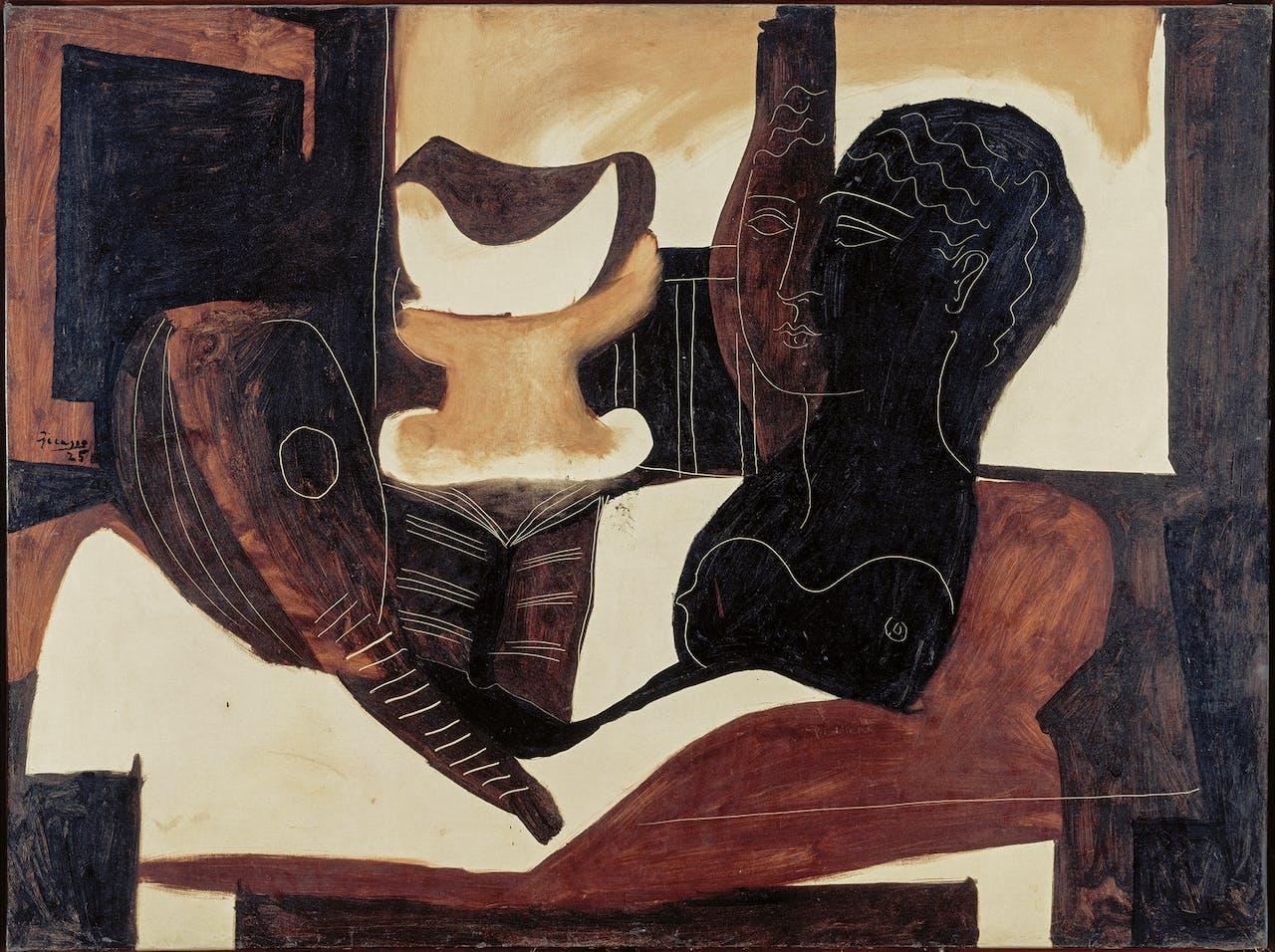 'Nature morte à la tête antique', 1925, Pablo Picasso.