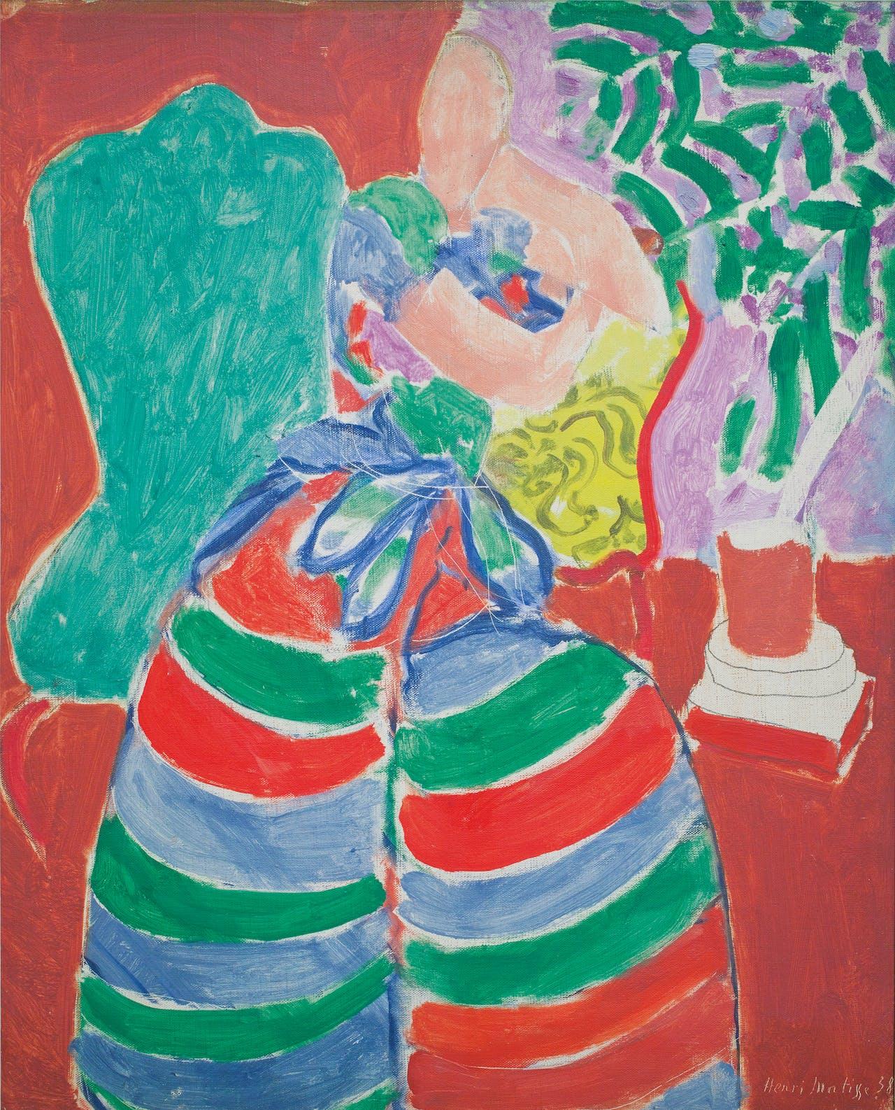 'La robe rayée' (de gestreepte jurk), 1938, Matisse.