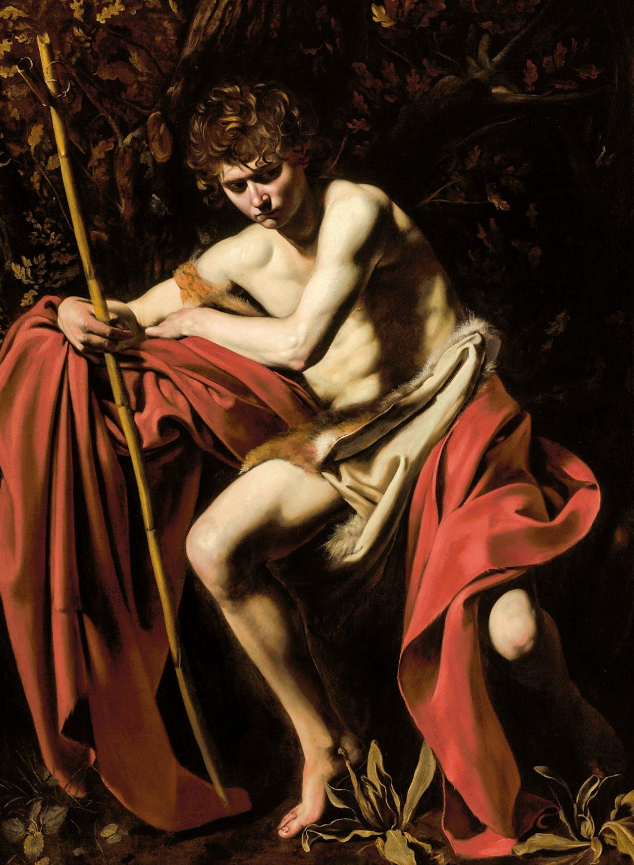 Caravaggio: 'Johannes de Doper in de wildernis', ca. 1604.