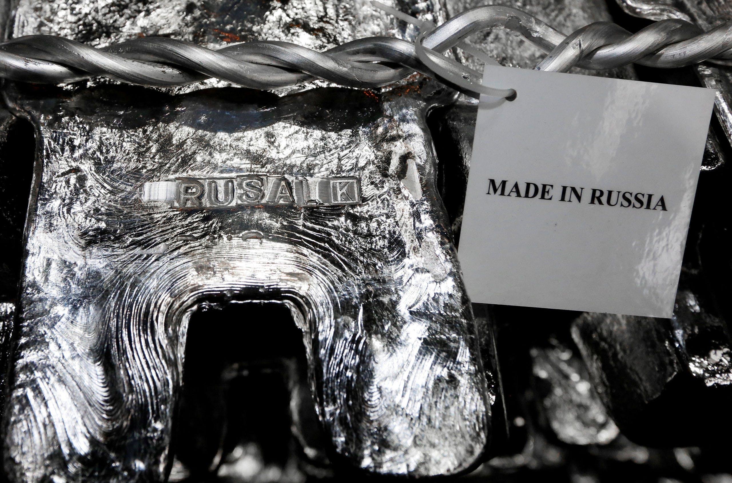 Aluminium uit de smelterij van Rusal in Siberië.