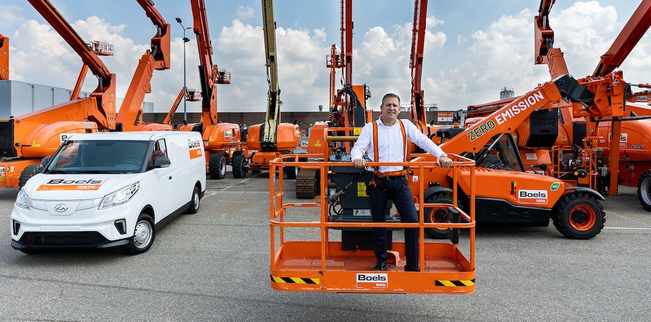 Dion Janssen, Head of Logistics, Operations Support & Fleet Sales bij Boels Rental: 'Duurzaamheid zit in het Boels-DNA. Het huren van machines draagt bij aan een circulaire economie.'