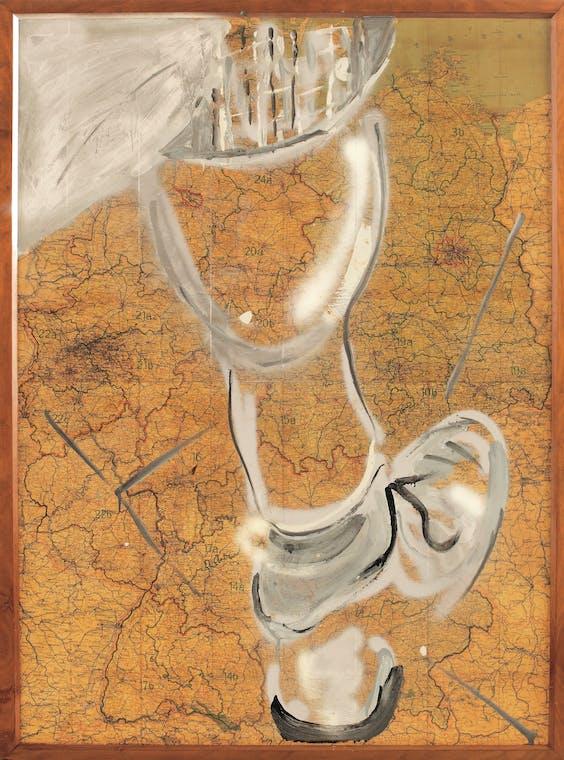 Martin Kippenberger, 'Zonder titel (Landkaart)', 1979.