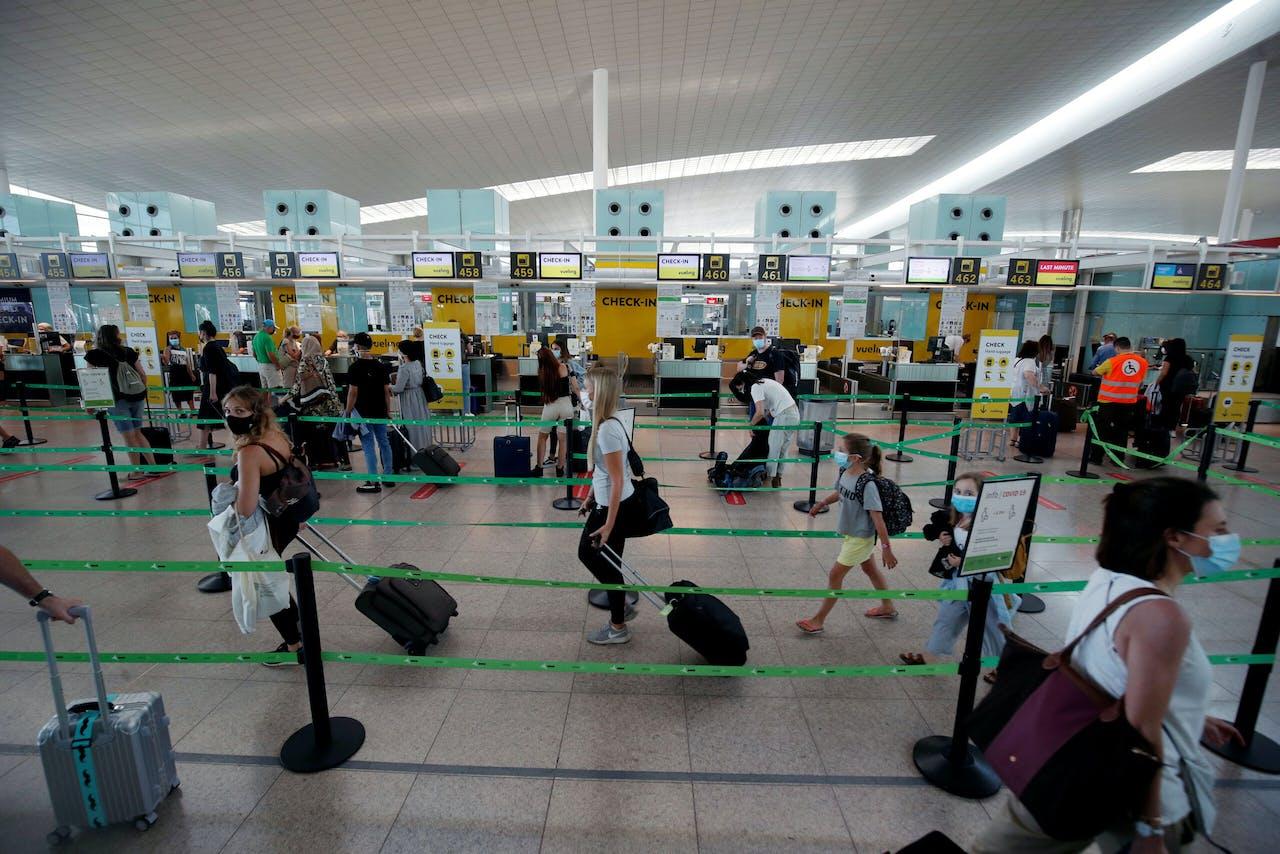 Het vliegveld van Barcelona.