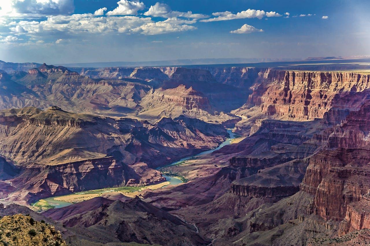 Grand Canyon met de rivier Colorado.