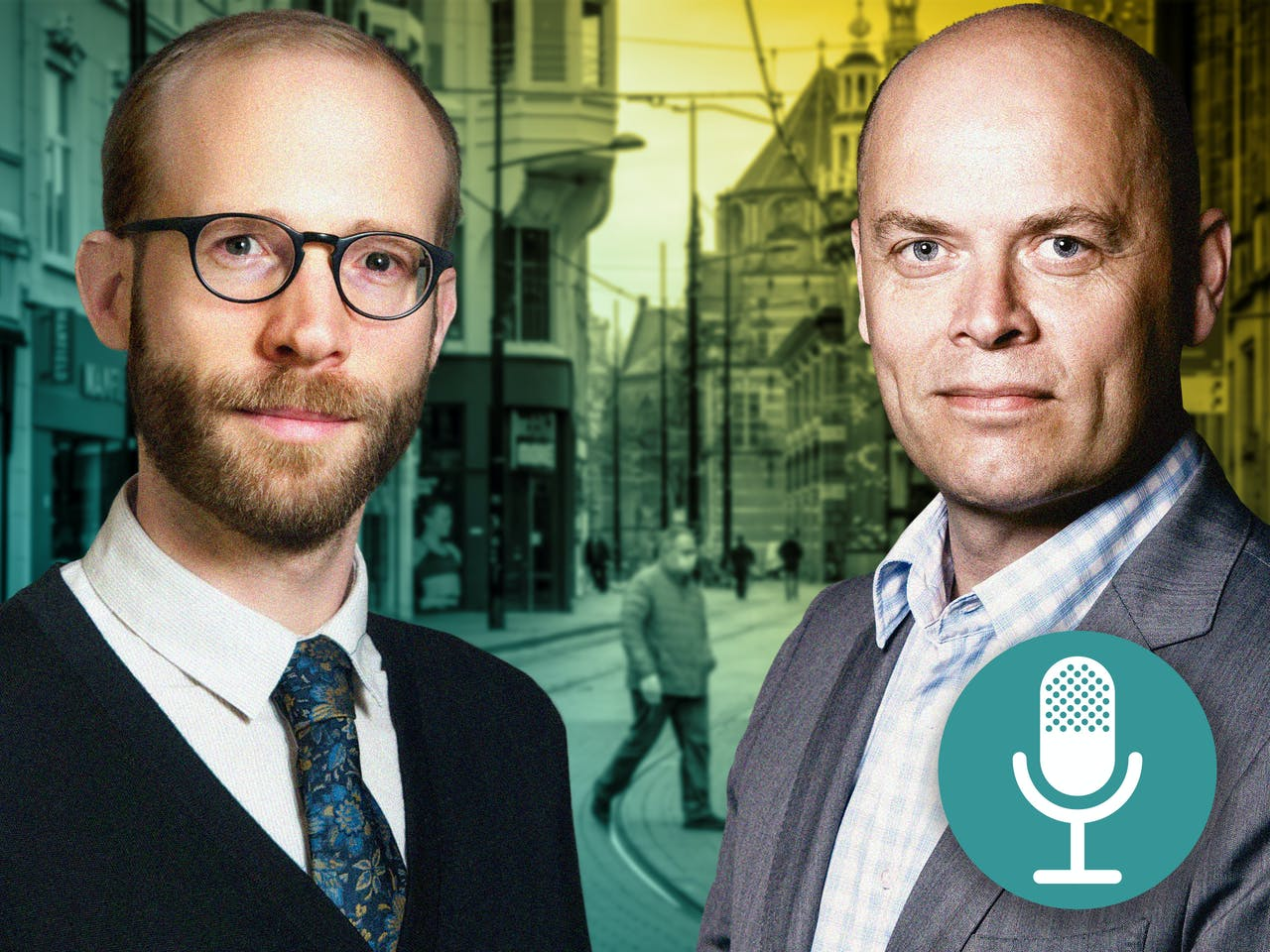 FD-redacteur Daan Ballegeer en FD-columnist Mathijs Bouman