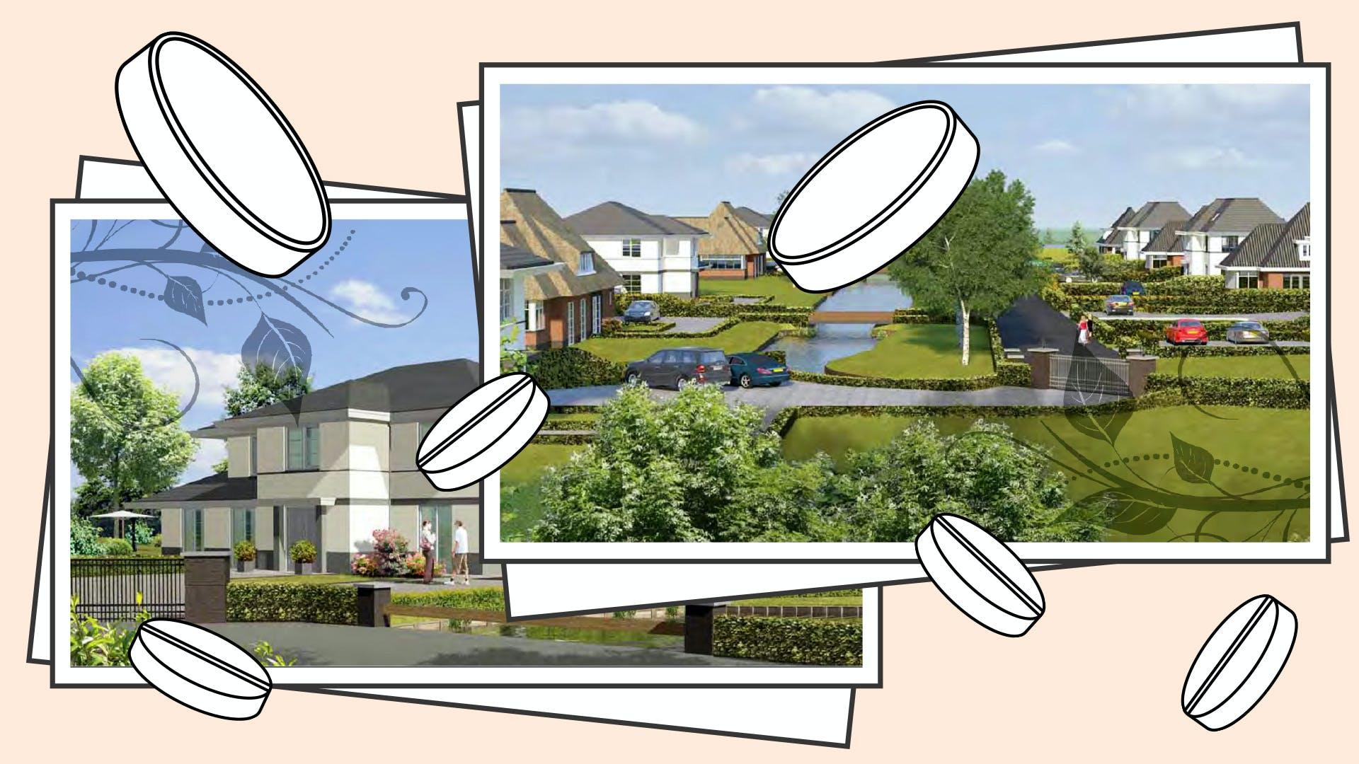 Artist's impressions van villa's op het project Ringvaartstaete in Nieuwerkerk aan de IJssel.