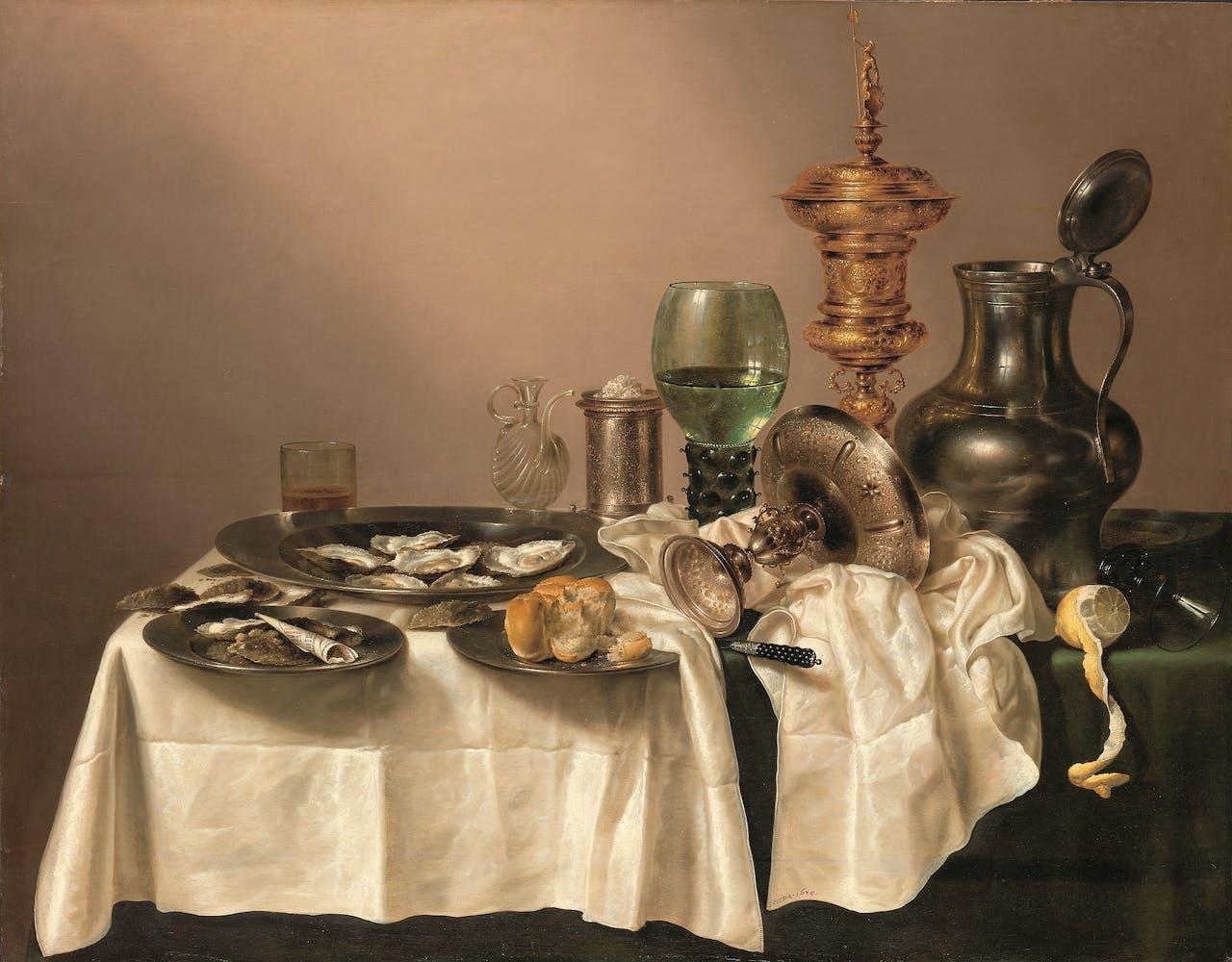 Willem Heda, 'Stilleven met vergulde bokaal', uit 1635.