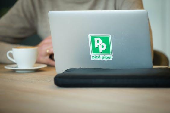 Pieter van der Does, oprichter en ceo van Adyen, is kritisch op de start-up hype en de overdreven waardering van jonge bedrijven. De sticker Pied Piper op zijn laptop is een verwijzing naar de ironische televisieserie Silicon Valley.