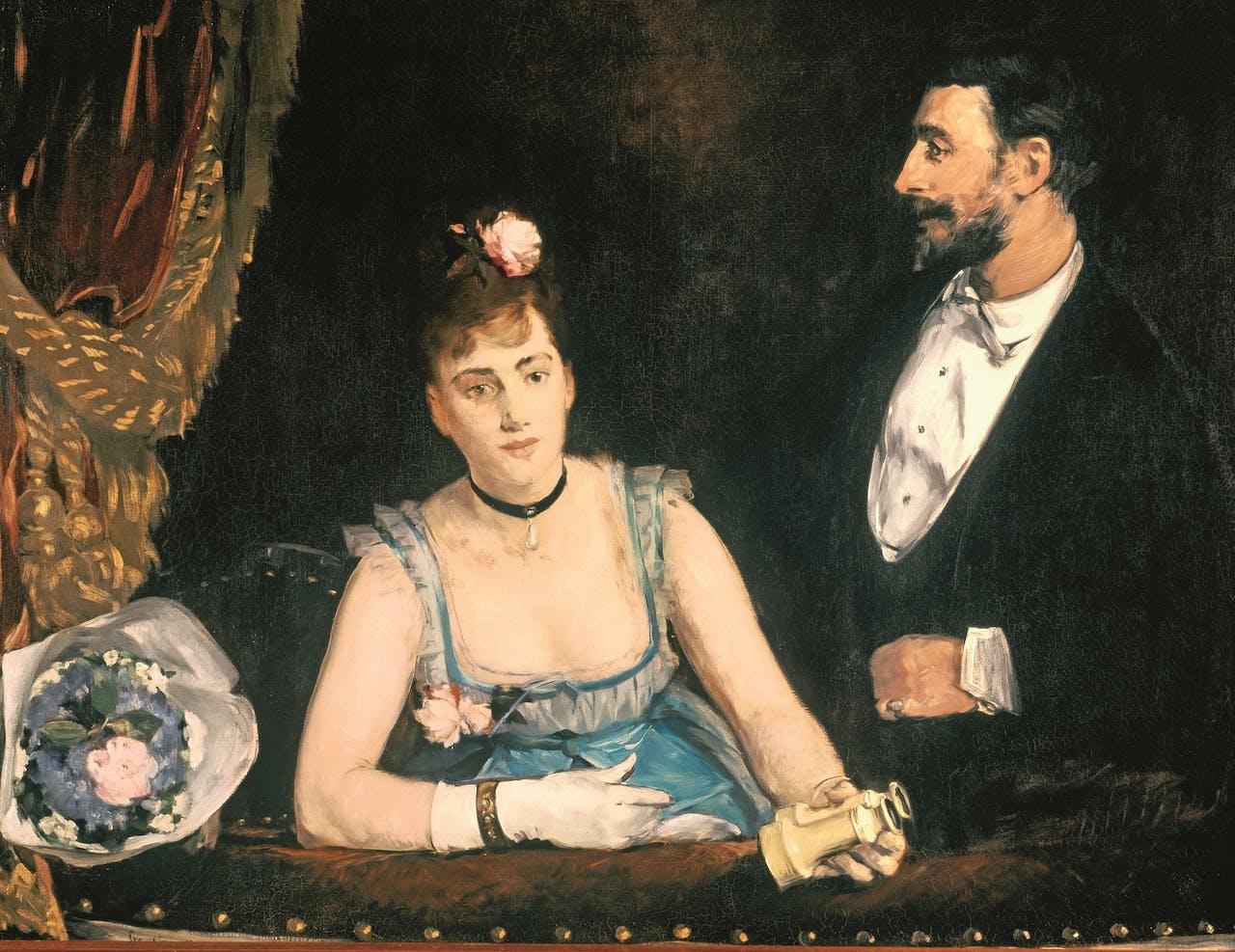 'Une loge aux Italiens', Eva Gonzalès, 1874.