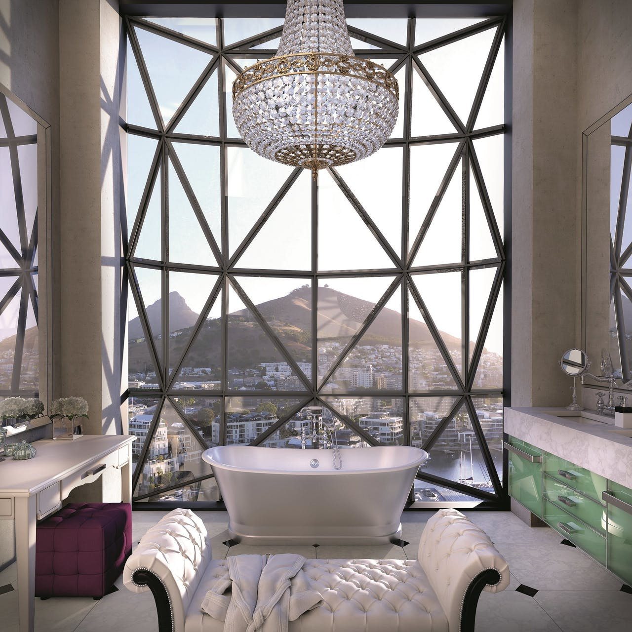 Vanaf €880 per nacht, Silo Square, V&A Waterfront, Kaapstad.