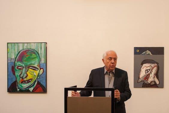 Opening van de Lucebert-tentoonstelling eerder dit jaar door Wim Hazeu.