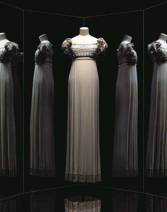 Eenvoudige jurk met effect.